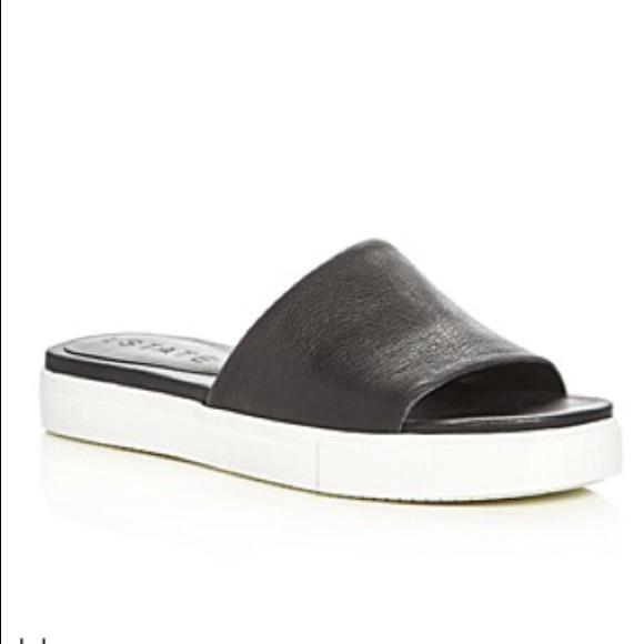 1 state shoes 1state black sporty slides poshmark